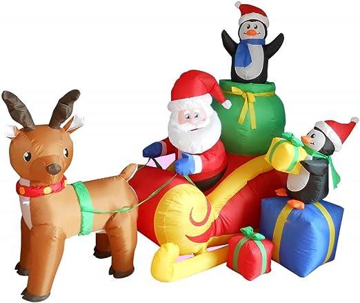 Amazon.com: Papá Noel hinchable de Navidad de 5.9 ft de ...