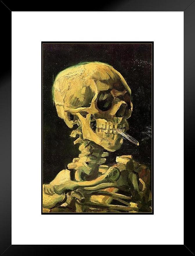 Amazon.com: Vincent Van Gogh Skull A Skeleton Cigarette Art Print ...