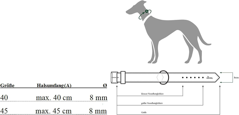 mit Zangenhaken und Messingbeschl/ägen HUNTER List Hundehalsung aus robustem Tau
