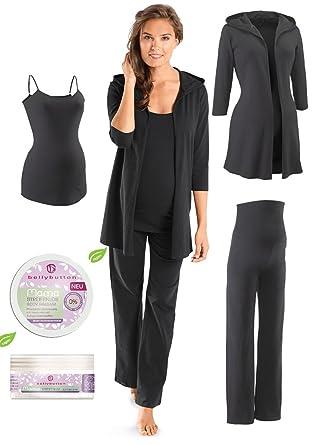 online store 5c98e fe470 4 teiliges Set Umstandsmode, Nachwäsche Pyjama/Schlafanzug Damen  Schlafanzugoberteil Schlafanzughose