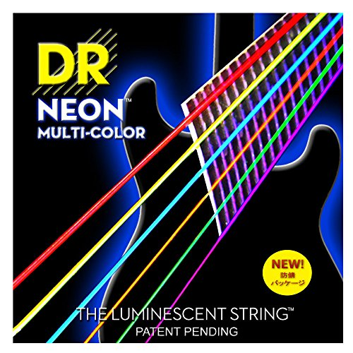 DR Strings Hi-Def NEON Multi-Color Light Electric Guitar Str