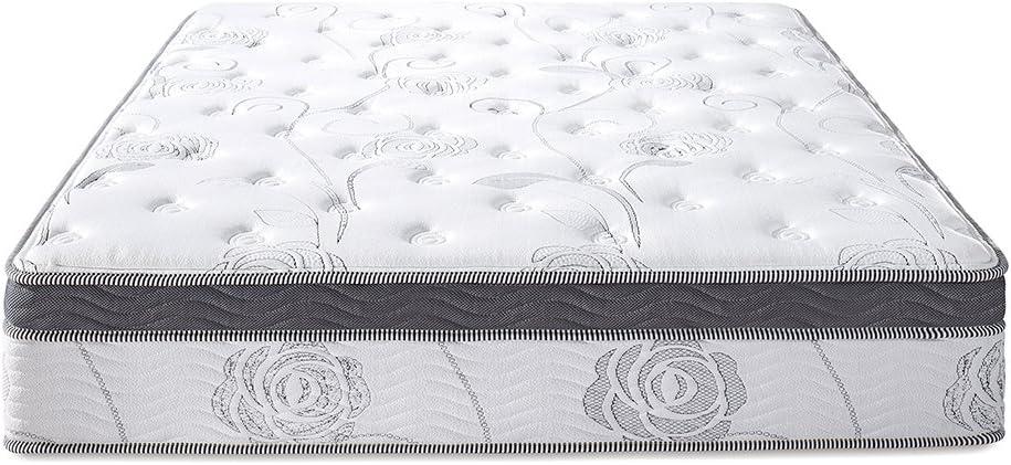 Full Olee Sleep 13 inch Galaxy Hybrid Gel Infused Memory Foam and Pocket Spring Mattress