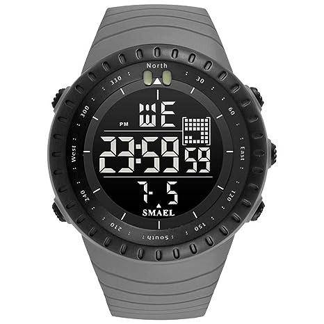 Blisfille Reloj de Hombre Reloj Digital Oro Rosa Reloj para Oficina Relojes Negros Reloj Hombre Piel