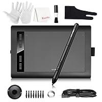 XP-PEN Star03 Pro Graphics Tablet, 10x6 Digital Drawing Tablet with 8192 Level Battry-Free Stylus, 5080 LPI Resolution for Windows 10 / 8 / 7 & Mac OS Artist, Designer, Amateur Hobbyist