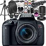 Canon EOS Rebel T7i DSLR Camera with 18-55mm Lens 19PC Accessory Bundle - International Version (No Warranty)