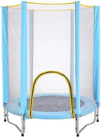 Cama elástica para interiores de 1,4 m con red protectora, cama de ...