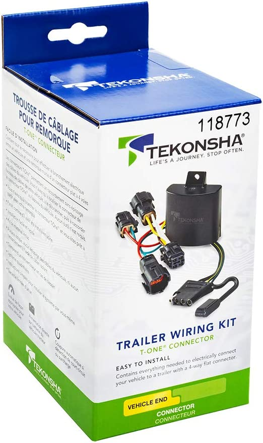 Tekonsha 118571 T-One Connector Assembly with Upgraded Circuit Protected ModuLite HD Module