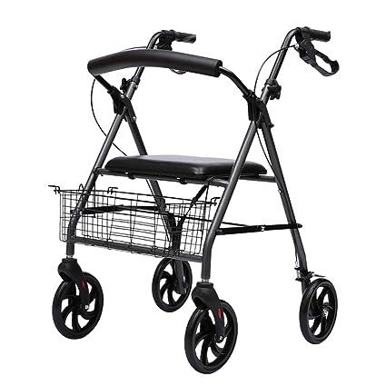 FKDErollator Carro Plegable de Aluminio con Movilidad/Andador / Andador/ Carrito de la Compra