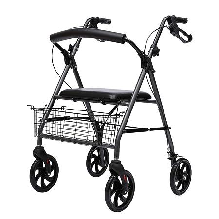 FKDErollator Carro Plegable de Aluminio con Movilidad ...