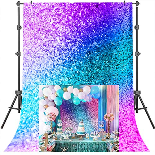 Mehofoto Colored Bokeh Backdrop Birthday Party Decorated Background Prom Decoration Backdrop 5X7ft Vinyl Studio Booth Photography Background Props -