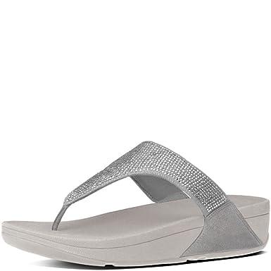 2450a50add74 FitFlop Slinky Rokkit Toe-Post T-Strap Womens Sandals Size 8 New Silver