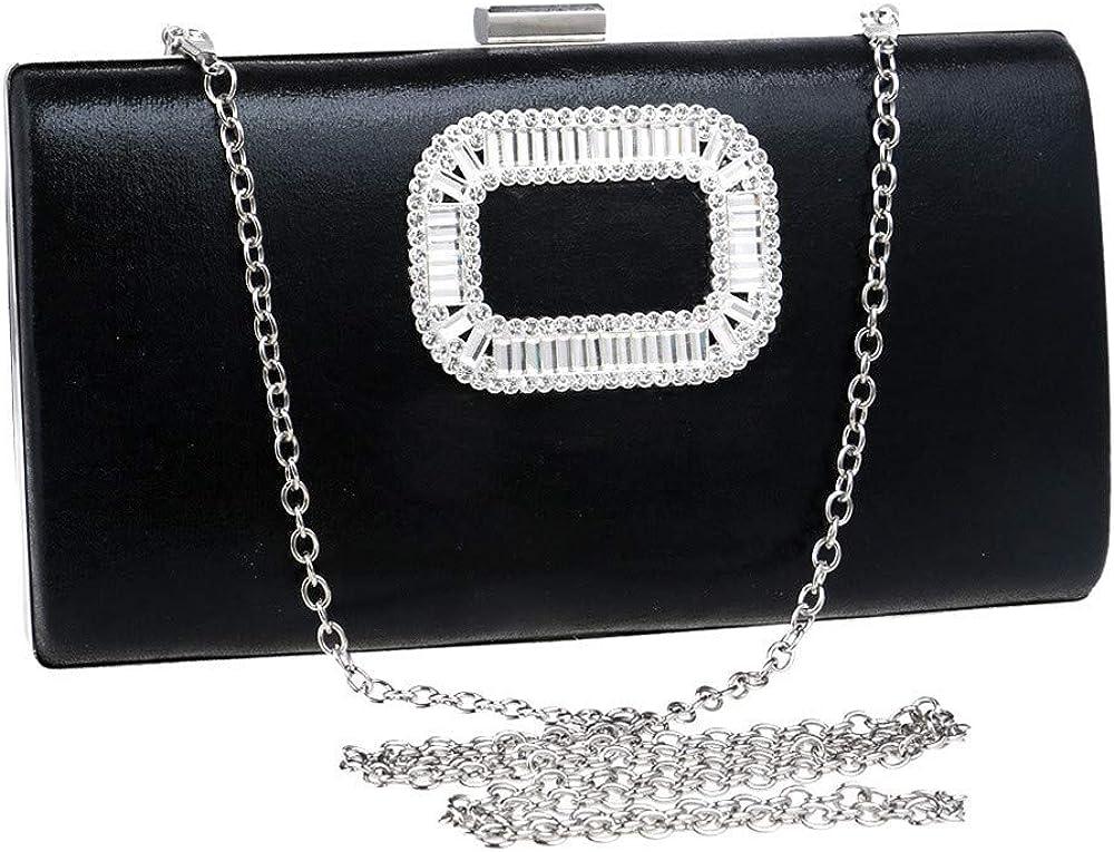 Banquet bag Ladies Banquet Bag Leather Clutch Bag Multi-function Solid Color Handbag