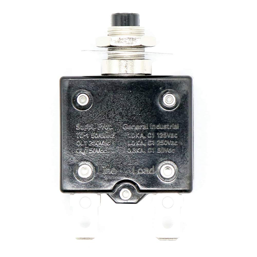 TOOGOO 1X 30A Circuit Breaker 12V//24V Push Button Resettable Thermal Circuit Breaker Panel Mount With Waterproof Cap