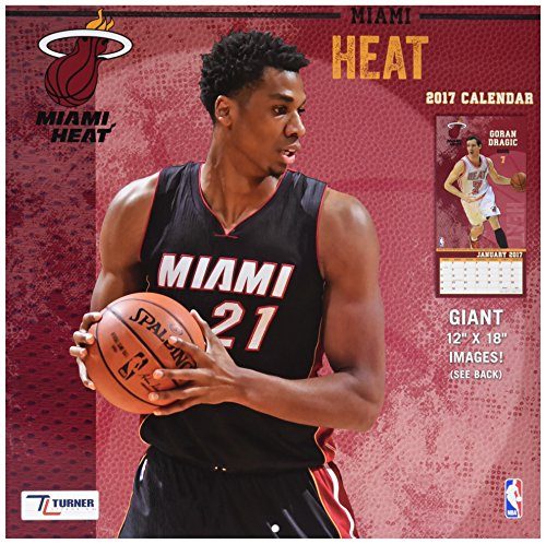 - Turner Licensing Sport 2017 Miami Heat Team Wall Calendar, 12