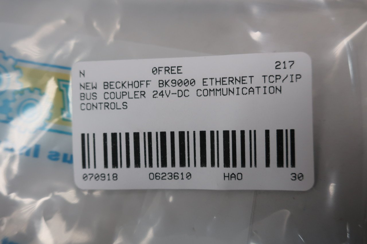 New Beckhoff Bk9000 Ethernet Tcp Ip Bus Coupler 24v Dc D623610 Wiring Diagram Industrial Scientific