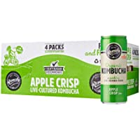 Remedy Organic Kombucha Apple Crisp Can, 250 ml (Pack of 24)