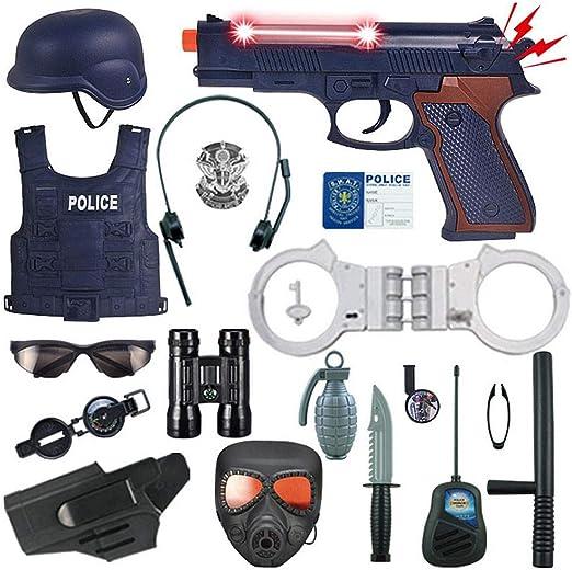 Volwco Juego De Disfraces De Policía De 18 Piezas para Niños ...