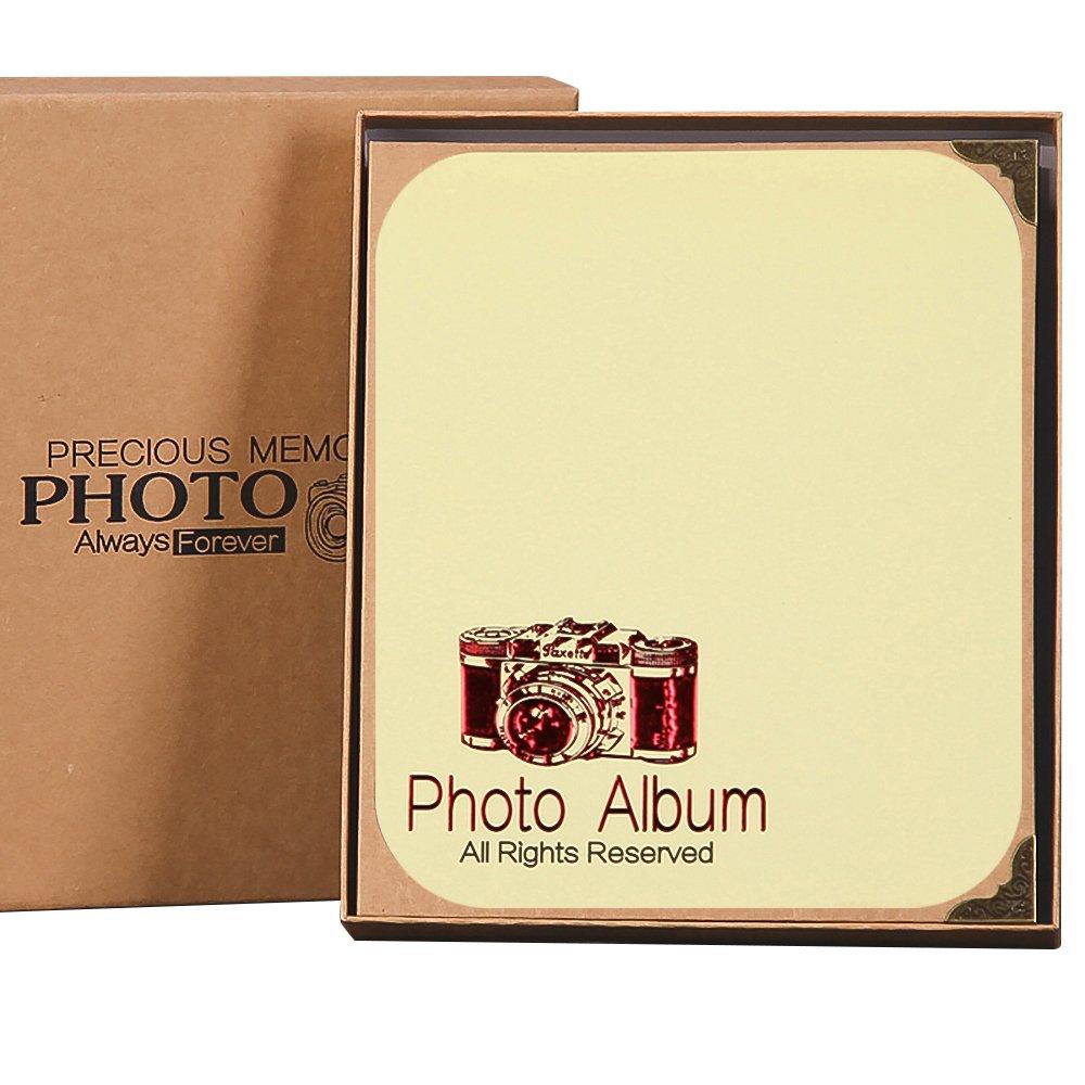 Jia Hu - Álbum de fotos para manualidades, álbumes diseño romántico, álbumes manualidades, de recortes autoadhesivos, tamaño pequeño, color 6 6fb373