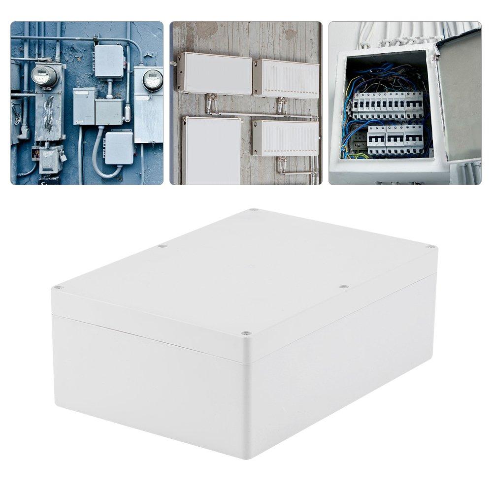 95mm r/ésistant /à leau bo/îtier en plastique blanc projet bo/îtier bricolage bo/îte de jonction Akozon Bo/îte de jonction 185 263