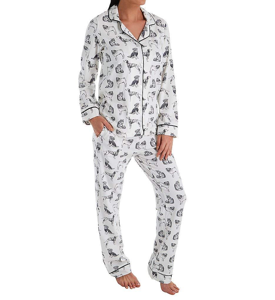 BedHead Pajamas Dog Days Long Sleeve PJ Set (292125D) XL/Black/White