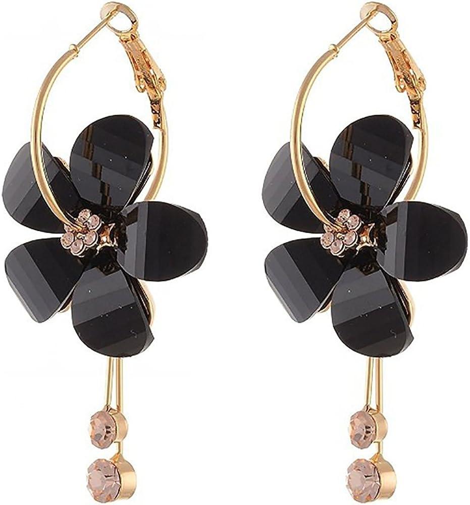 Korean Silver Plated Leaf Water Drop Earring for Women Wedding Jewelry  Earrings
