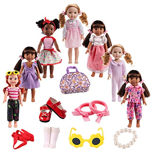Doll Clothes Shoes Accessories for American girl doll chothes 14.5 inch Wellie Wishers Willa Dolls (Accessories Clothes And)