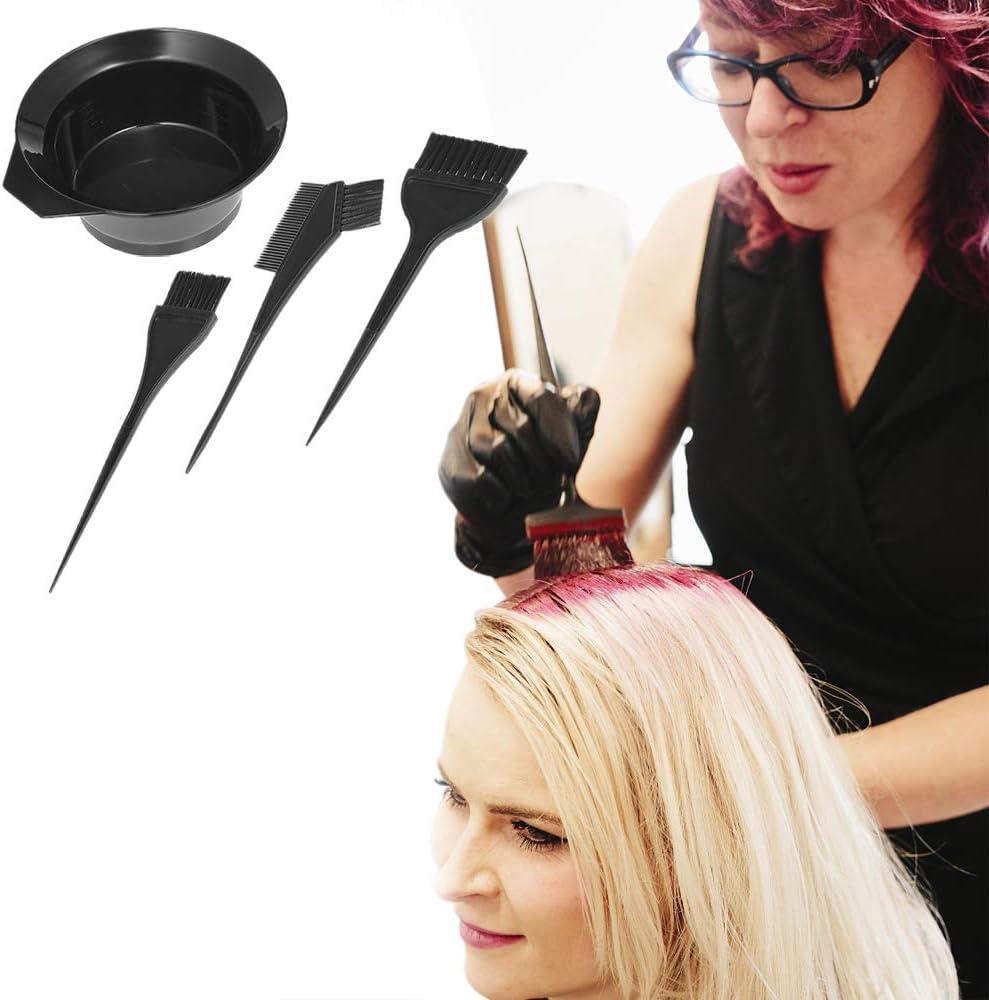 Corrines - Kit de herramientas de tinte para el pelo, para salón de belleza; cuencos para mezclar el color para el pelo, orejeras, cuchara para ...