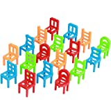 KOZEEY椅子 子供 教育 プレイゲーム おもちゃ 積み重ね 18pcs プラスチック製 バランス 学習