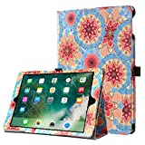 iPad Air 2 Case, iPad Air Case, BENTOBEN Flower Design Folio Folding Stand Smart Auto Wake/Sleep Faux Leather Protective Tablet Case for iPad 9.7 2018/iPad 9.7 Inch 2017, Colorful Flower
