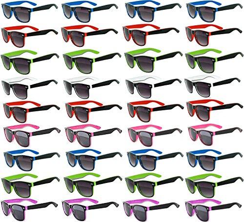 36 Pieces Per Case Wholesale Lot Sunglasses. Assorted Colored Frame Fashion Sunglasses.Bulk Sunglasses - Wholesale Bulk Party Glasses, Party Supplies.