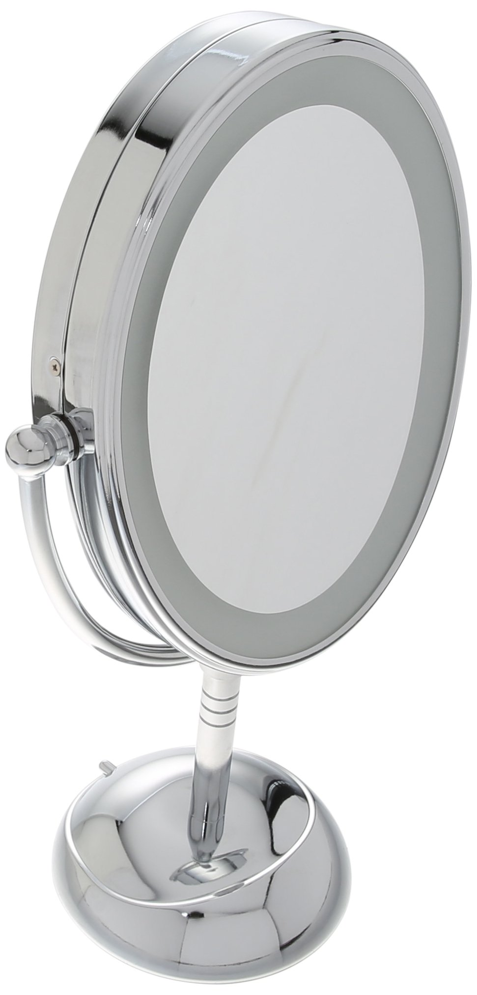 Conair Oval Shaped LED Double-Sided Lighted Makeup Mirror; 1x/7x magnification; Polished Chrome Finish by Conair (Image #4)