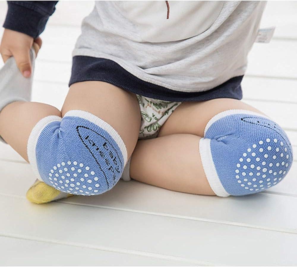 Blackr 2pcs Baby Crawling Knee Pads Infant Toddler Anti-Slip Safety Cushion Protector Leg Warmer