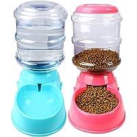 CULASIGN Automatischer Futterspender Haustier Futterautomat und Wasserspender für Hund Katze 3.5L