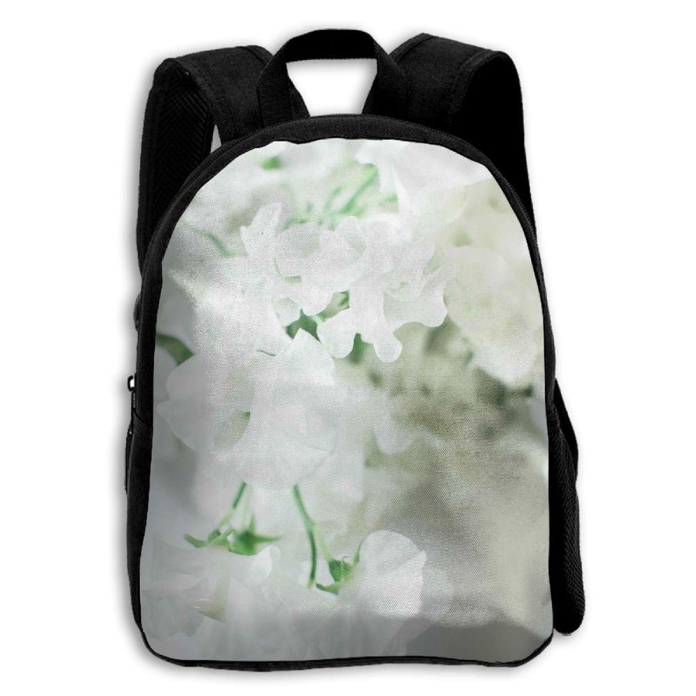 JHXZML White Flowers For The Wedding.jpeg Student School Backpack Elementary School Bags For Kids