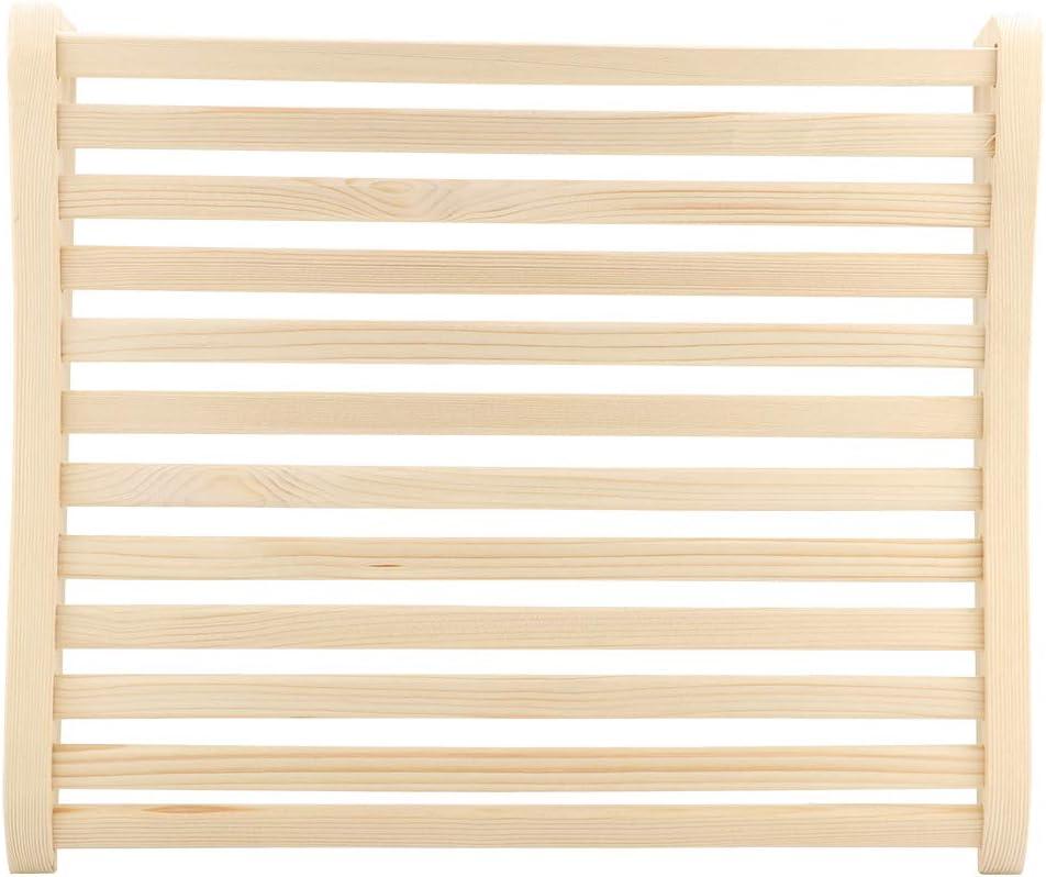 AUNMAS Oreiller de Sauna en Bois incurv/é pour appuie-t/ête de Sauna Outil de soulagement du Stress pour Accessoires de Sauna 17,7 x 15,2 x 3 Pouces