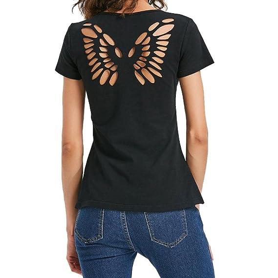 🍒 Camiseta Casual Para Mujer 25c7aa4c9303