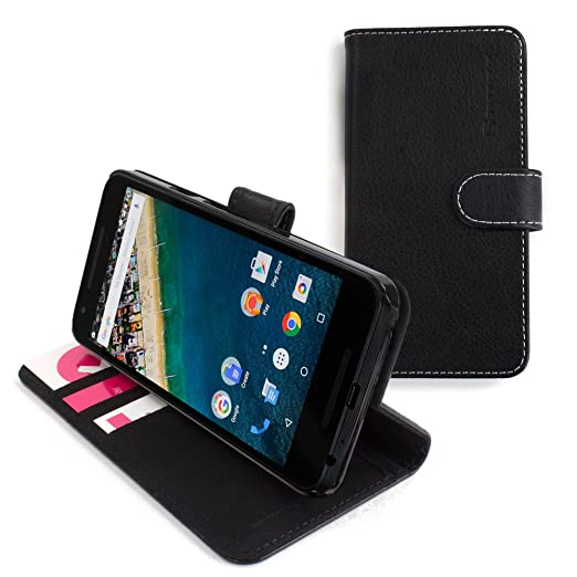 29 opinioni per Cover Nexus 5X, Snugg Google Nexus 5X Flip Custodia Case [Slot Per Schede] Pelle