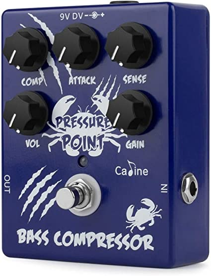 Caline CP-45 Pressure Point Bass Compressor Guitar Effects Pedal