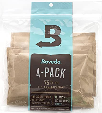 NEW Boveda 75/% RH Humidity Control Large 60 Gram Size Individually Wrapped