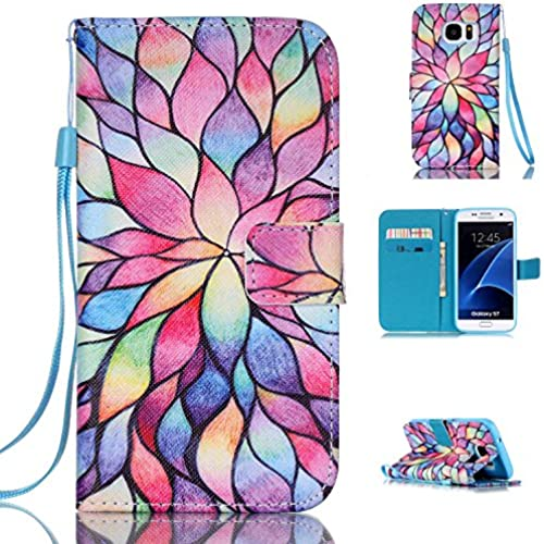 S7 Case,Galaxy S7 Wallet Case,SMYTU(TM)Slim Fit Card Slots,Stand Feature Premium Leather Flip Protective Skin Case With [Magnetic Closure] & A  Sales