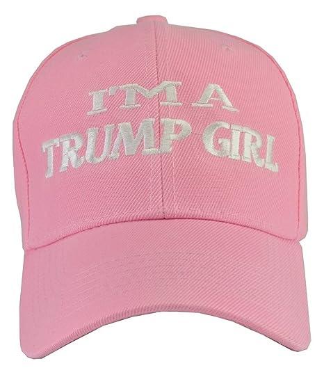 ddb7650e085 Incrediblegifts Donald Trump Hat I m A Trump Girl Pink