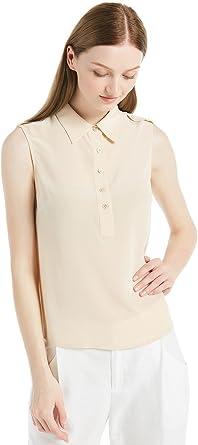 LilySilk Camisa Mujer de Seda Sin Mangas - 100% Seda Natural ...