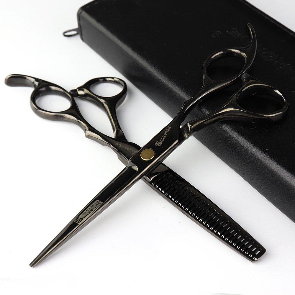 Studio Professionnel de coiffure de la coiffure Cheveux Ciseaux et ciseaux à effiler 6 pouces équipement de coiffure en acier outils Axemoore