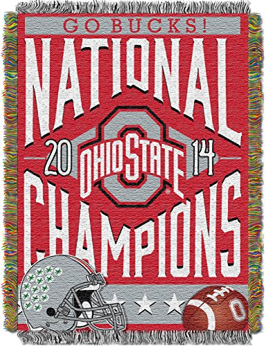 - The Northwest Company Officially Licensed NCAA Ohio State Buckeyes 2014 College Football Playoff National Champions Tapestry Throw Blanket Bed, 48