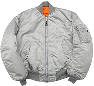 product image for Made in USA MA-1 Alpha Air Force AF Flight Military Bomber Jacket Silver