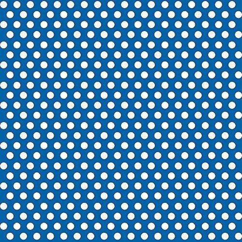 Royal Blue Polka Wrapping Paper