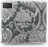 Tahari Home Luxury Bohemian Duvet Cover Luxury Boho Style Medallion Print in Blue Grey 3 Piece Bedding Set (King, Charcoal Shimmer)