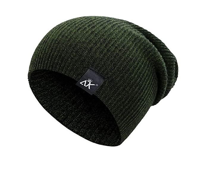 466386ff ADK Mixed Color Baggy Beanies for Men Army Green at Amazon Men's ...