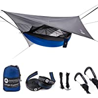 """Easthills Outdoors Jungle Explorer 118"""" x 79"""" Portable Double Camping Hammock with Removable Mosquito Bug Net and Tree Straps"""