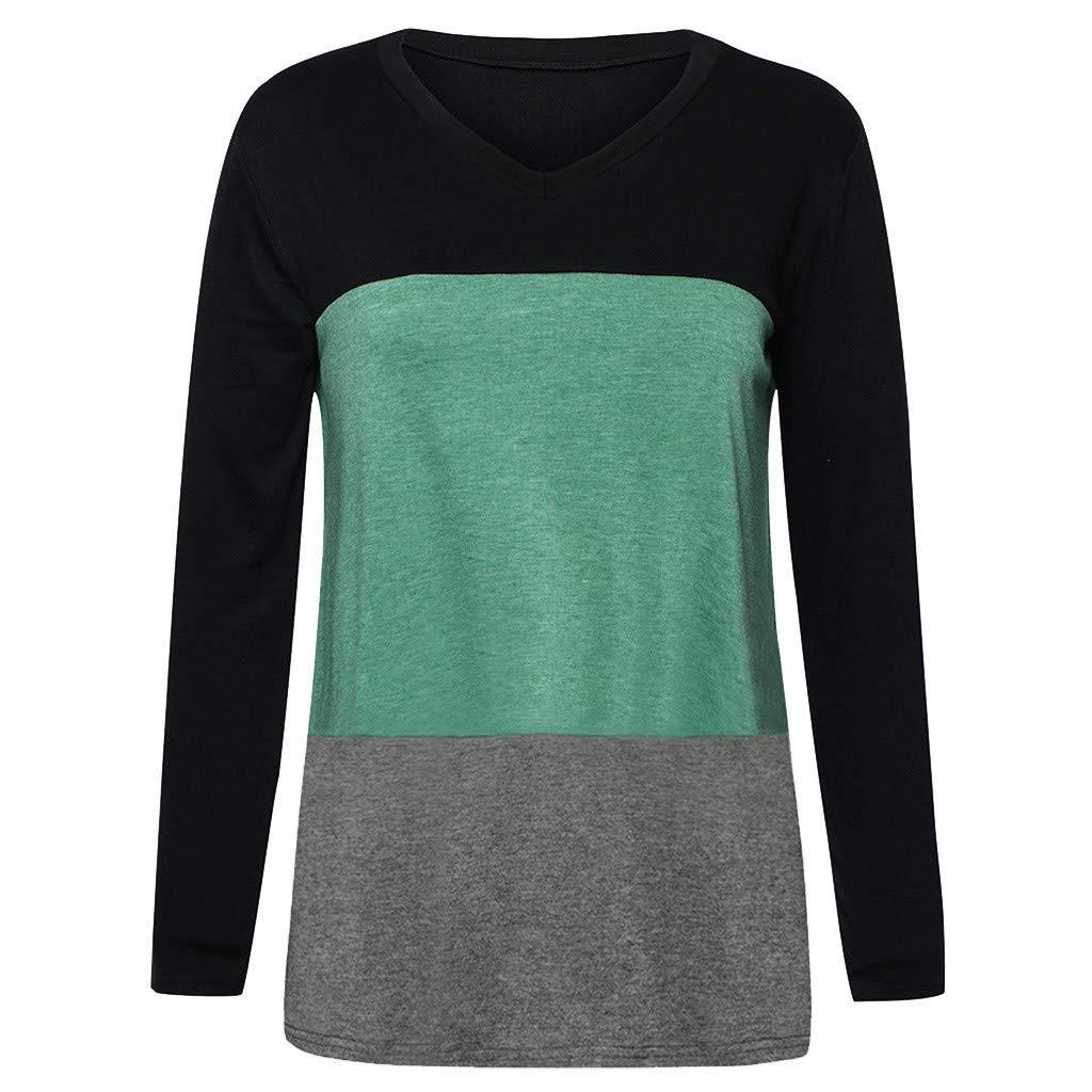 ODGear/_Tops Womens Color Block Round Neck Tunic Tops Casual Raglan Sleeve Shirts Blouses Leopard Print Sweatshirt